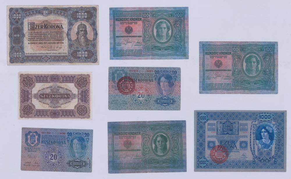 Lot 407: Hungary Large Banknotes (8)