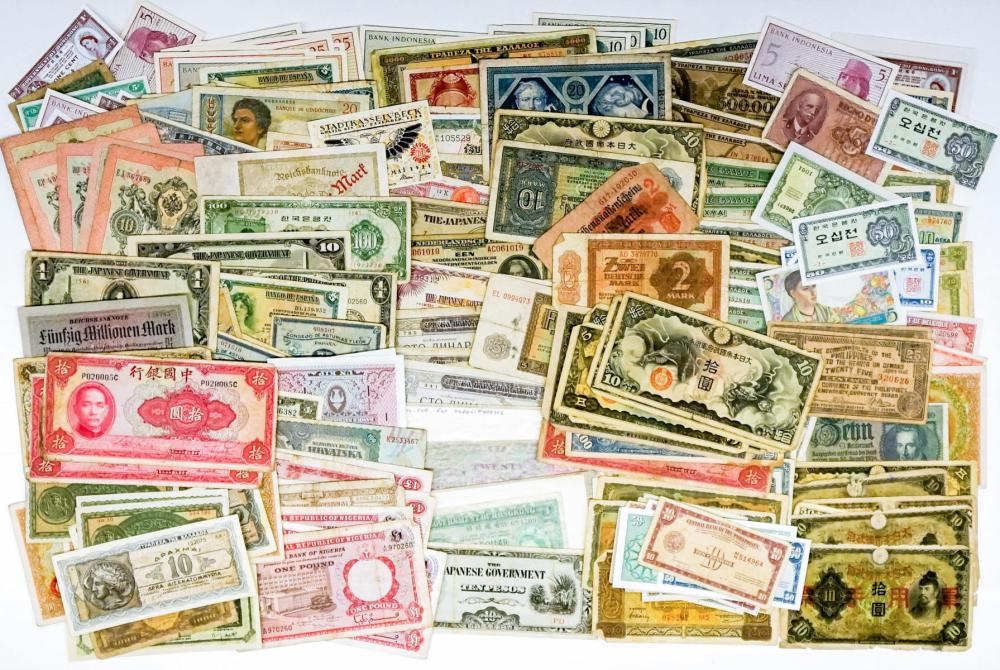 Lot 408: [196] Estate Collection of Foreign Banknotes