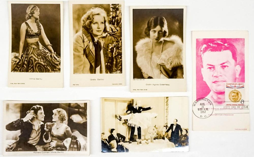 Lot 416: Postcards of Famous Persons (6)