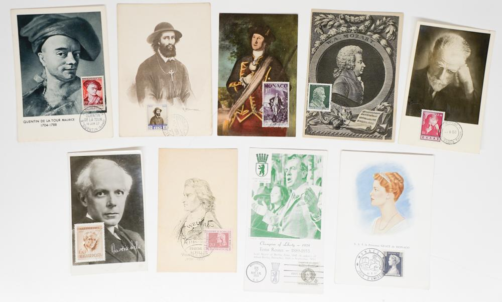 Lot 418B: Foreign Postcards with Stamps, Postmarks Fronts