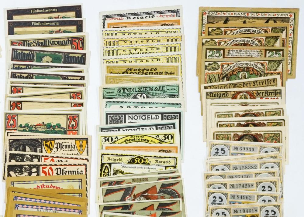 Lot 432: [Germany, Notgeld] Group of (232) Pieces