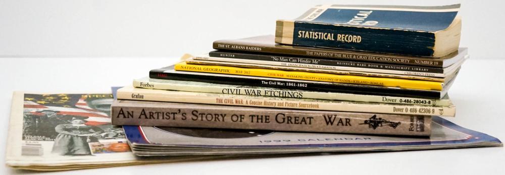 Lot 444: American Civil War (12) Softcover Books