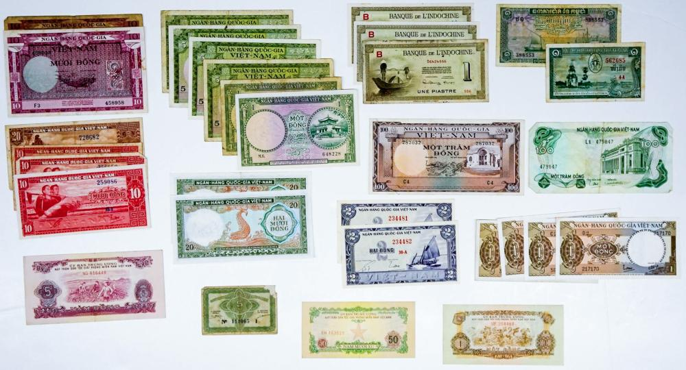 Lot 450: [Vietnam] Group of old Currency (31]
