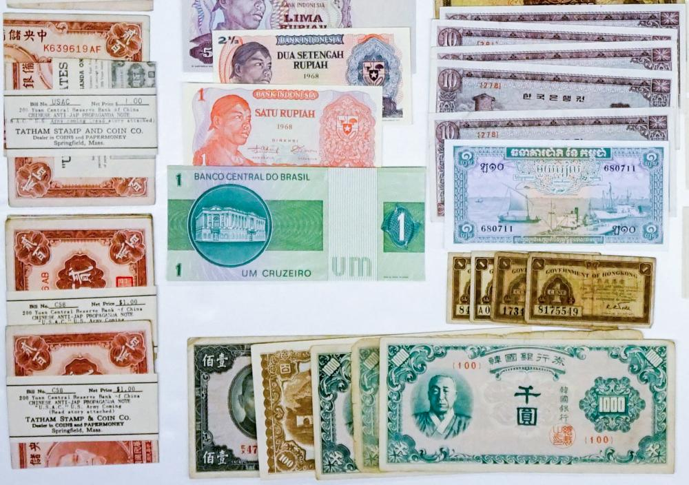 Lot 452: [Korea, Indonesia, Hong Kong, China] Currency