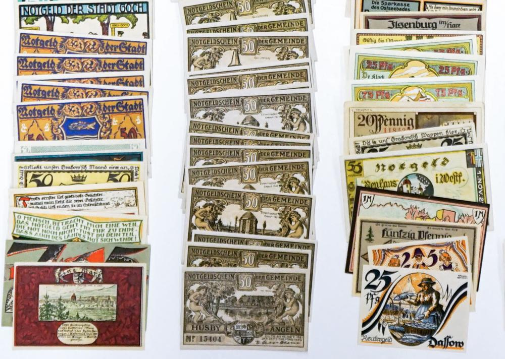 Lot 458: [Germany, Notgeld] Group of (240) Pieces