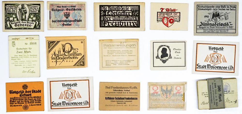 Lot 461: [Germany, Notgeld] Sets in Original Folios (15)