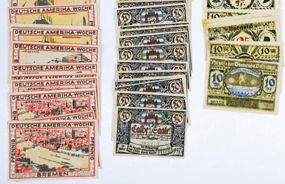 Lot 464: [Germany, Notgeld] Group of (189) Pieces