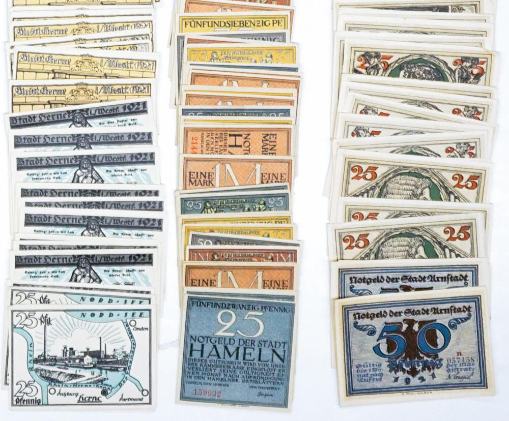 Lot 463: [Germany, Notgeld] Group of (335) Pieces