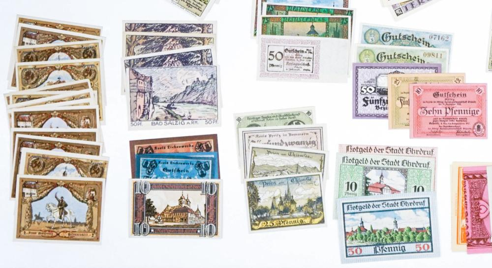 Lot 480: [Germany, Notgeld} Group of (176) Pieces