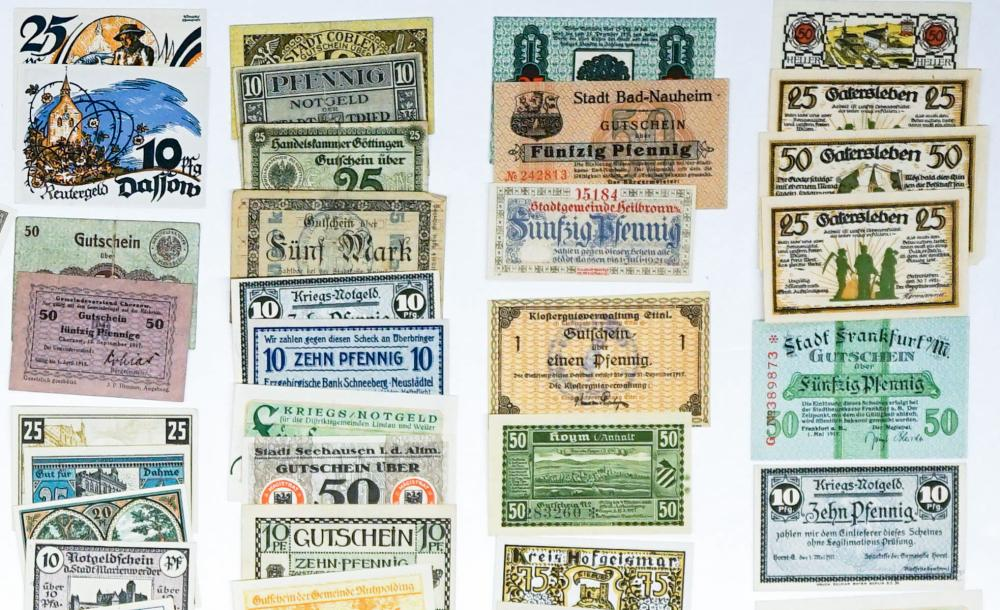 Lot 486: [Germany, Notgeld] Group of (128) Pieces
