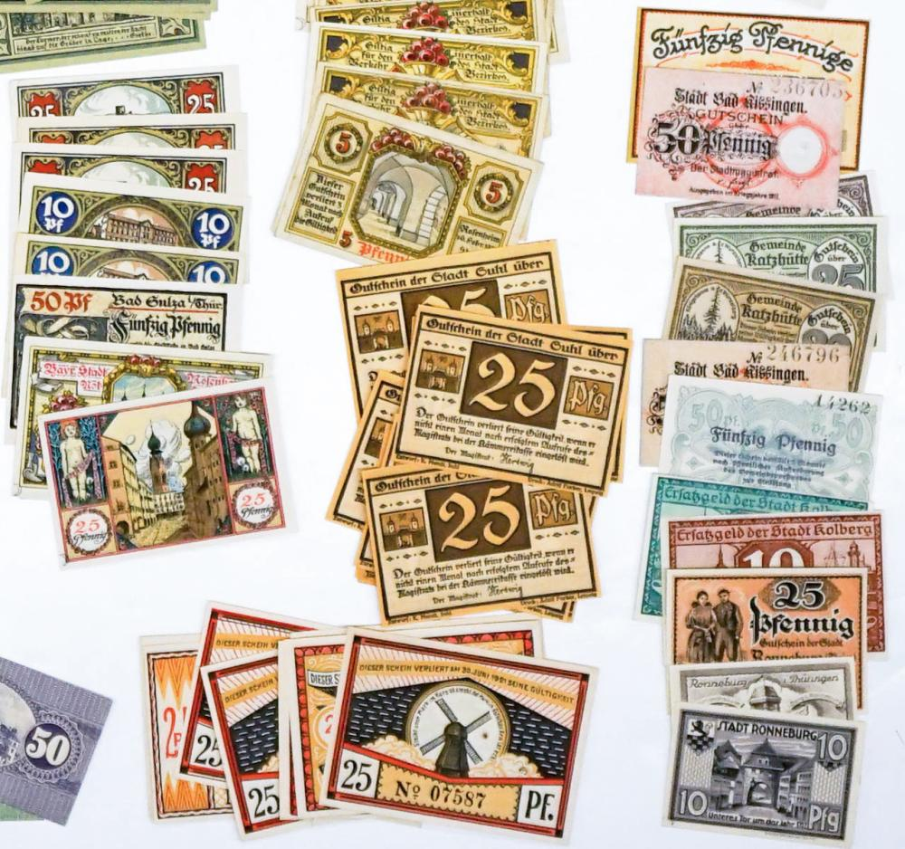 Lot 488: [Germany, Notgeld] Group of (122) Pieces