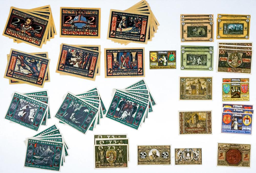 Lot 496: [Germany, Notgeld] Group of (62) Pieces