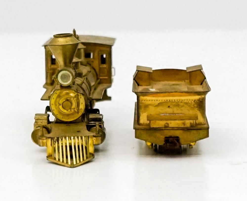 Lot 518: Vintage Brass Engine and Tender Made in Japan
