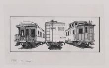 Lot 541: Al Armitage Original Pen and Ink Drawings [Trains]