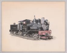 Lot 544: Al Armitage Original Watercolors [Trains]