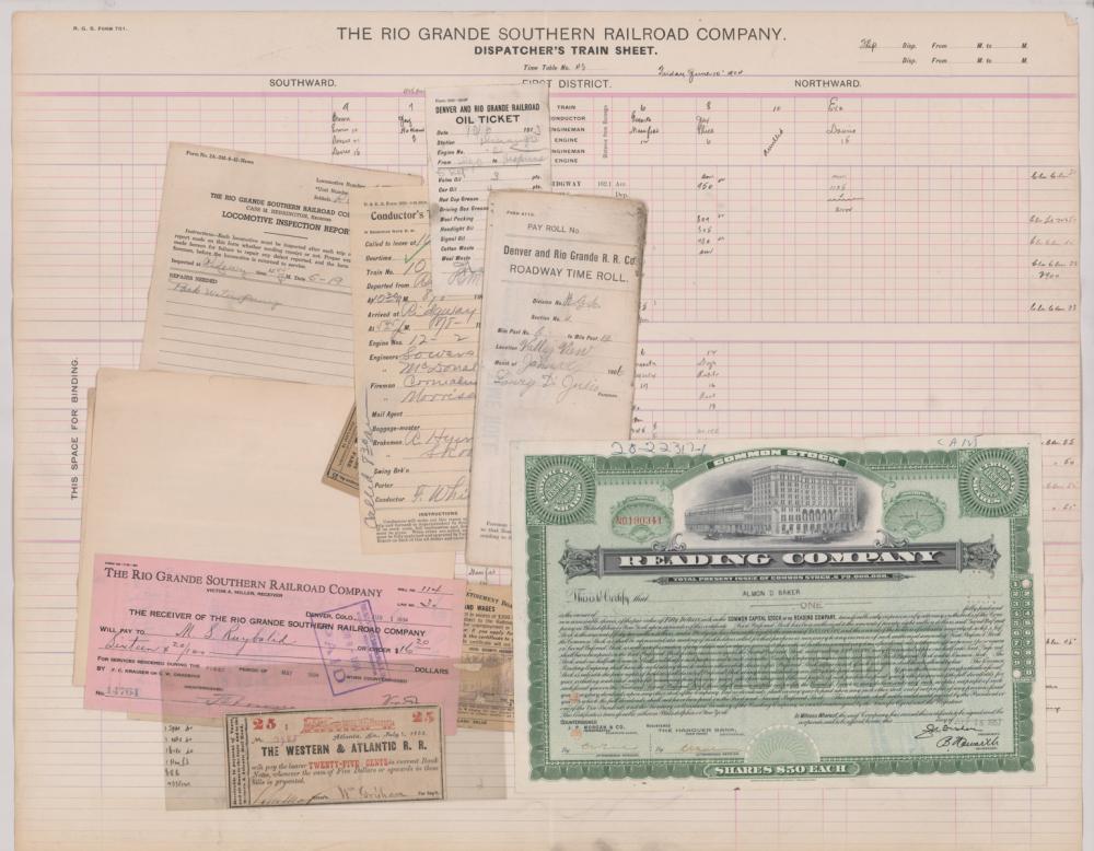 Lot 567: Denver and Rio Grande Railroad Ephemera