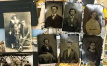 Lot 572: Tintypes, Postcards and more