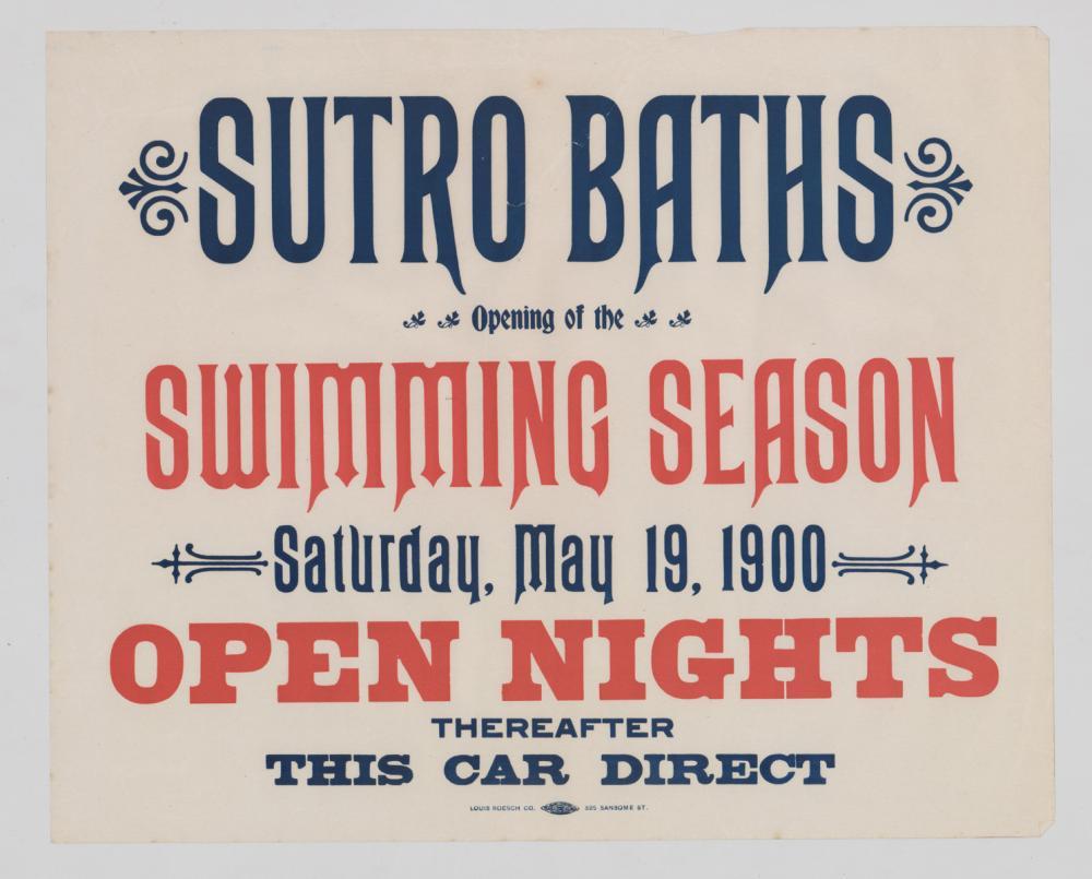 Lot 576: Sutro Baths Original Broadsides (2)