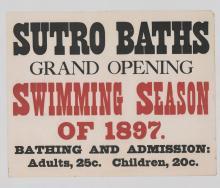 Lot 577: Sutro Baths Original Broadside