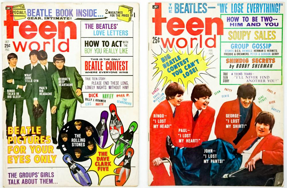 Lot 581: The Beatles Vintage Magazines (8)