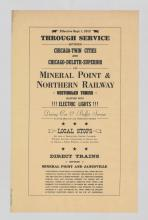 Lot 578: 1912 Mineral Point and Northern Railway Broadside
