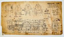 Lot 585: {Trains, Railroad] Prints of Schematic Drawings 7