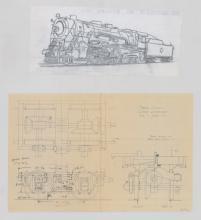 Lot 584: Al Armitage Original Schematic Drawings 200+