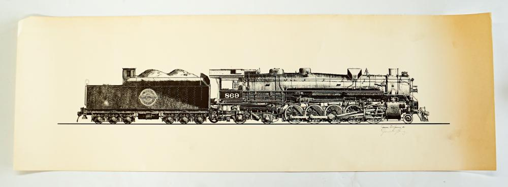 Lot 589: James D. Young Signed Railroad Prints (5)