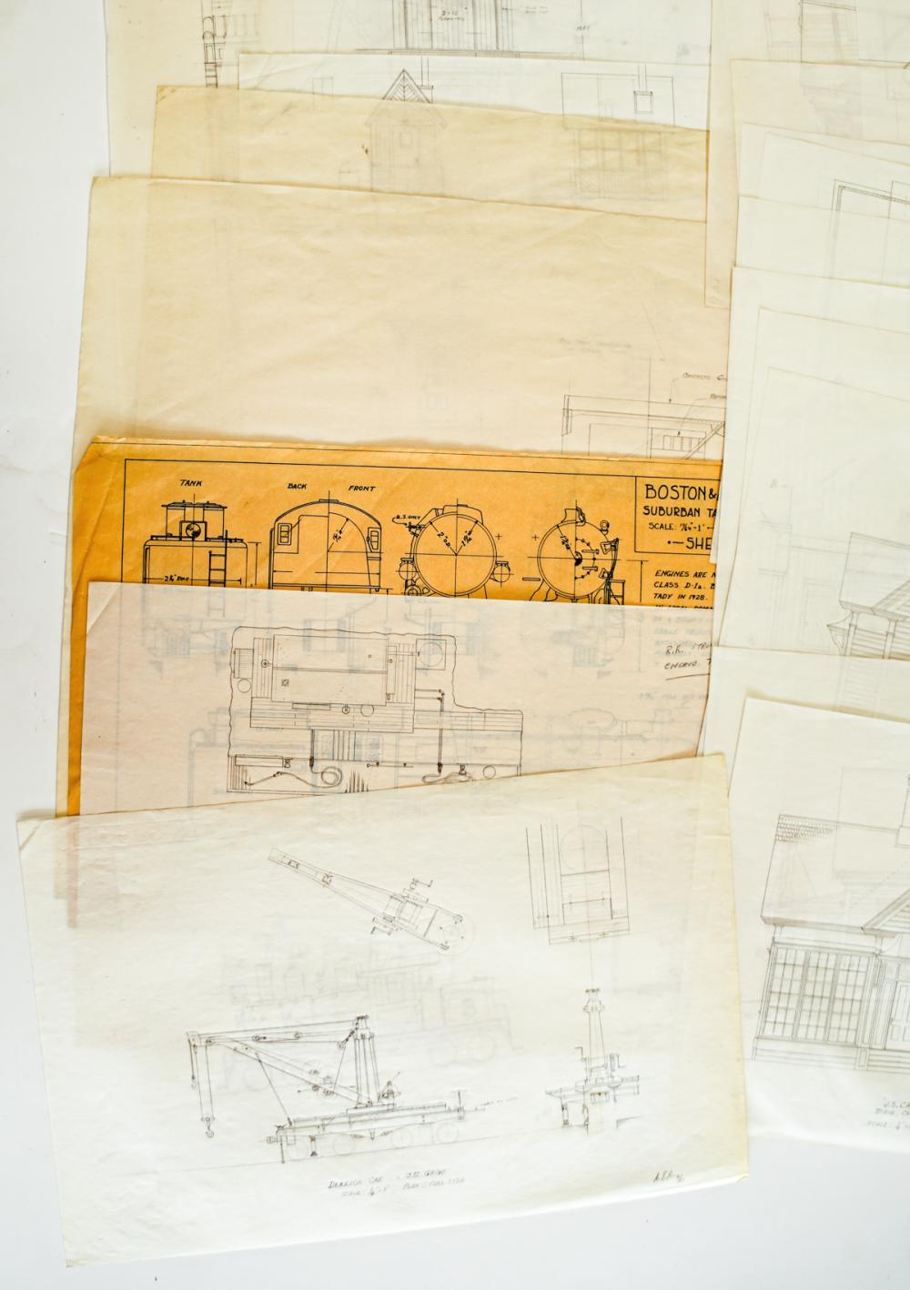 Lot 591: [Trains, Railroad] Original Schematic Drawings