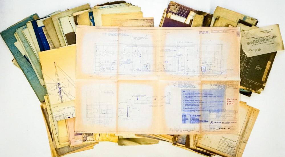 Lot 596: Al Armitage Collection Locomotive Blueprints