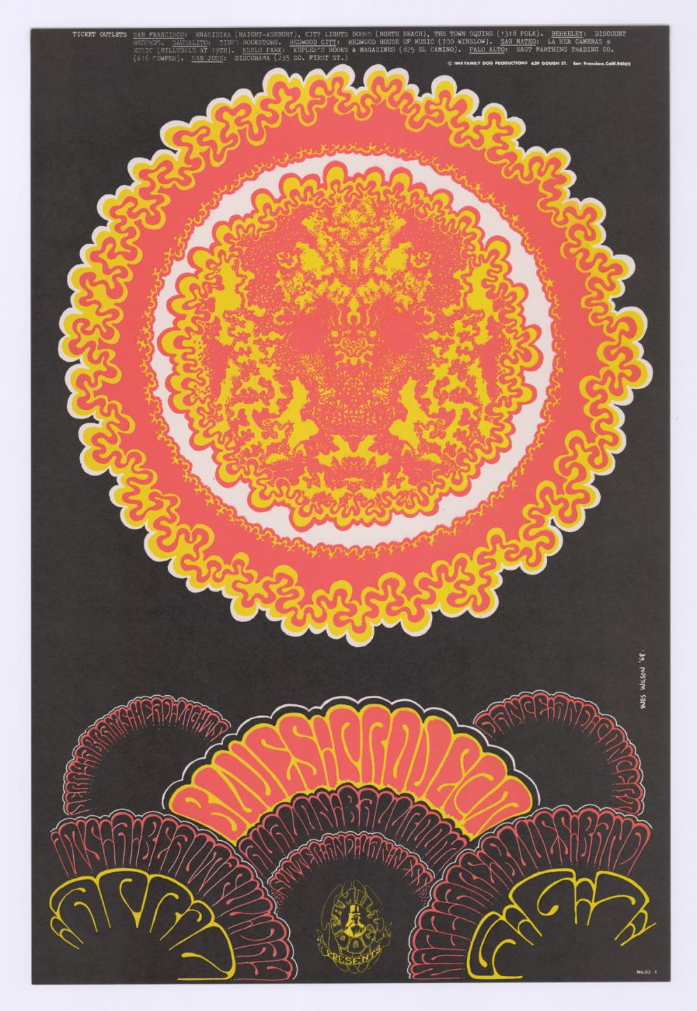 Lot 605: 1968 Family Dog Avalon Ballroom Poster FD-113-1