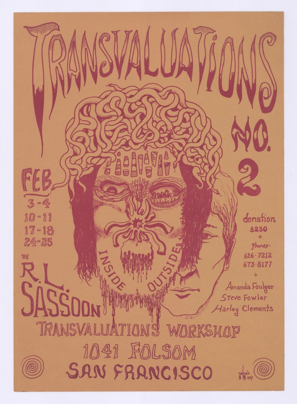 Lot 611: 1967 Transvaluation Workshop No.2 Poster
