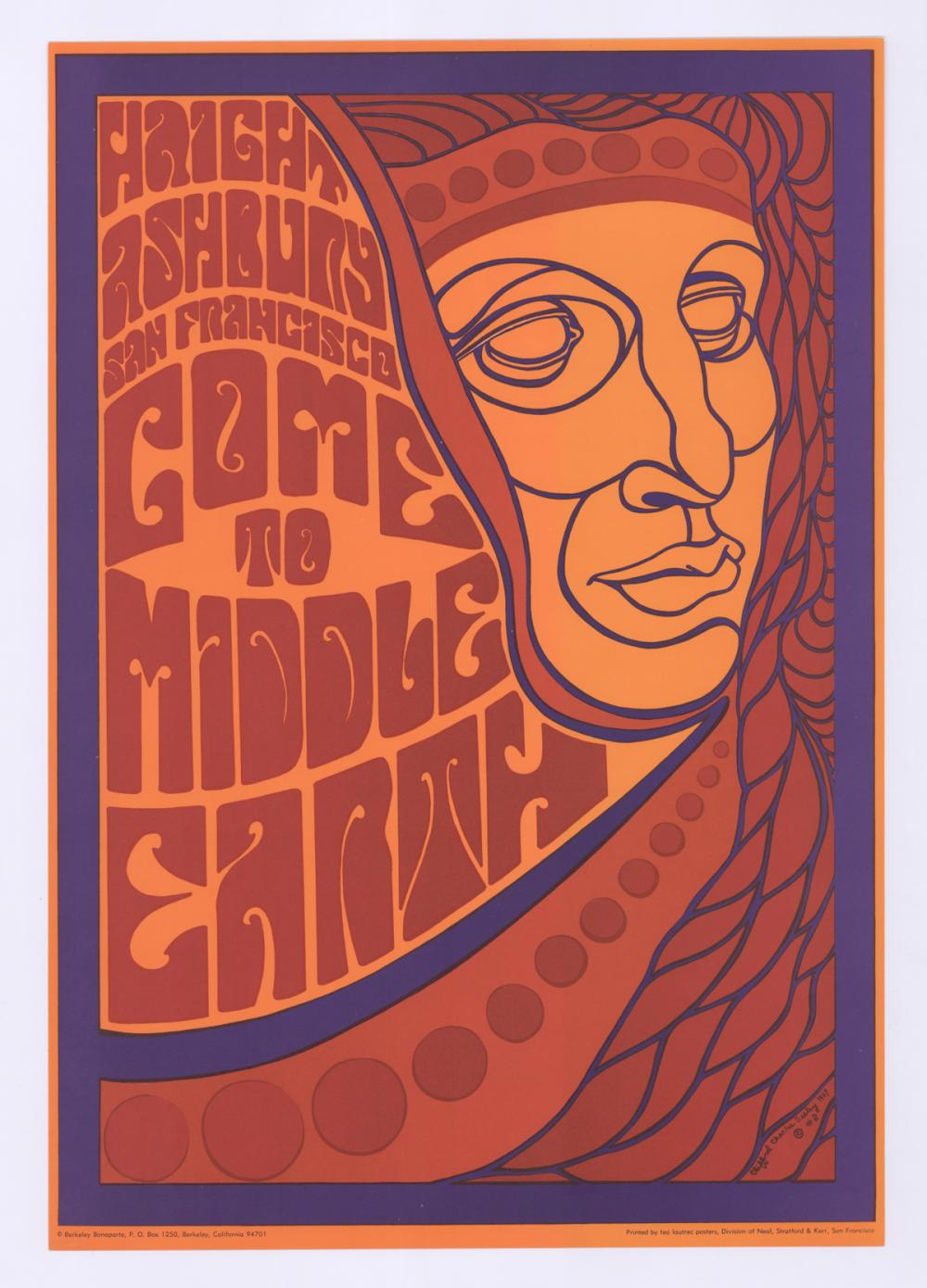Lot 619: Haight-Ashbury Come To Middle Poster #2