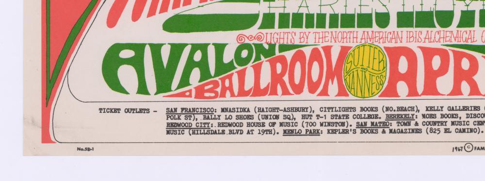 Lot 620: Family Dog Avalon Ballroom Poster FD-58-RP-2