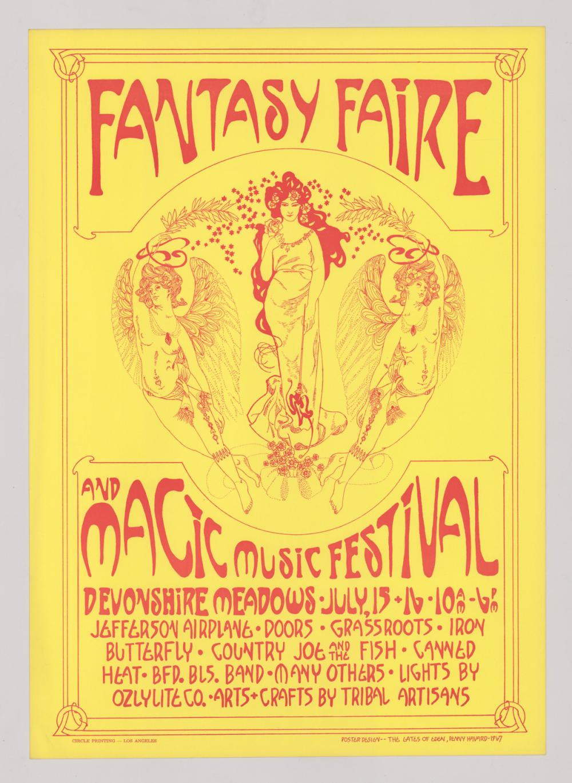 Lot 625A: Fantasy Faire Music Festival Poster