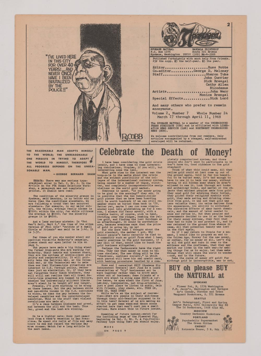 Lot 625B: Rock and Head Shop Posters and Newspaper