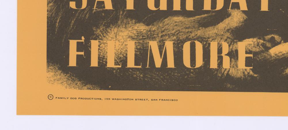 Lot 630: King Kong Memorial Fillmore Poster FD-2-RP-2