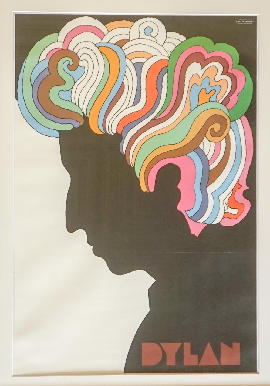 Lot 631A: Bob Dylan by Milton Glaser Poster - Framed