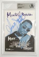 Lot 654: Montell Jordan Signed Sticker Beckett COA
