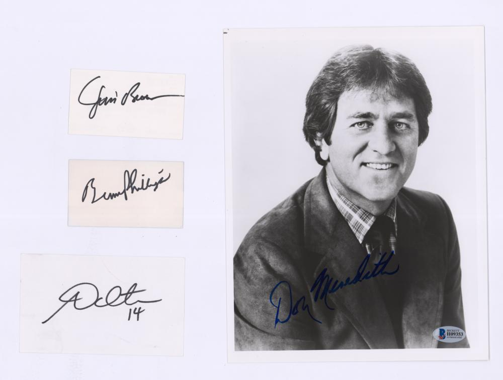 Lot 659: Former NFL Players/Coach Signed Photo, Cards COAs