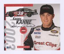 Lot 668: Kasey Kahne Signed Color Photo Beckett COA