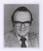 Lot 673: Johnny Olson Signed Photo Beckett COA