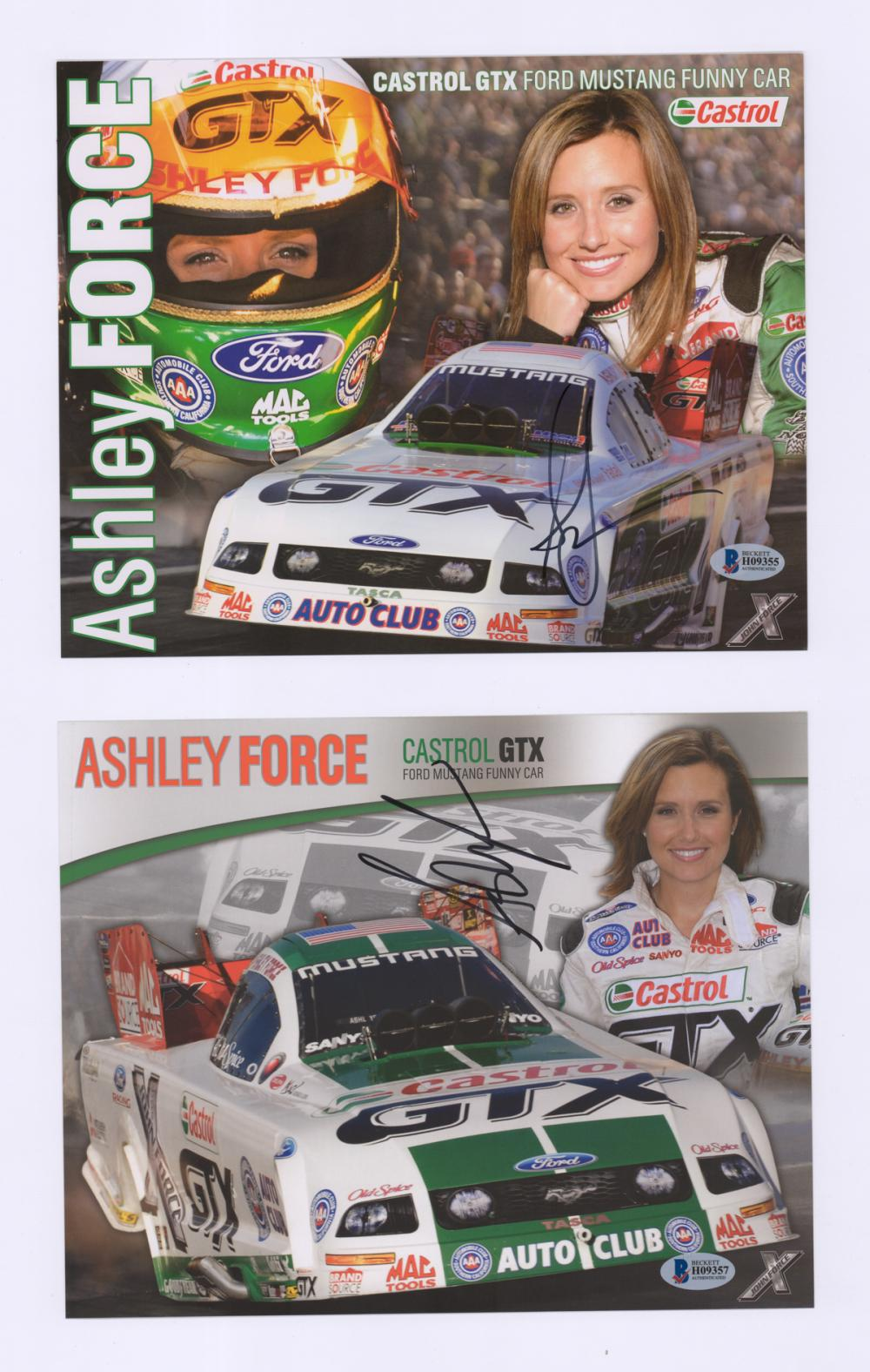 Lot 670: Force Family Racing Signed Color Photos (4) COA's