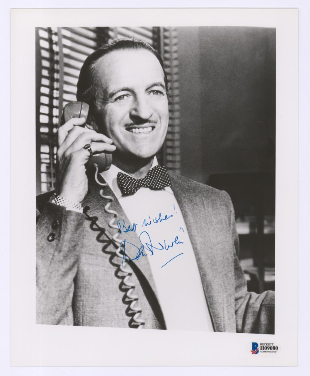 Lot 675: David Niven Signed Photo Beckett COA