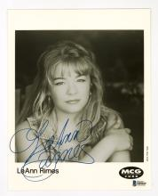Lot 685: Leann Rimes Signed Black and White Photo