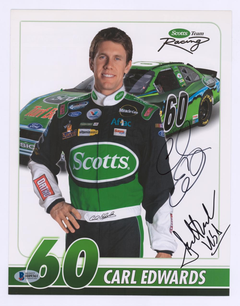 Lot 683: Nascar Drivers Signed Photos (4) Beckett COA's