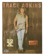 Lot 686: Trace Adkins Signed Color Photo Beckett COA