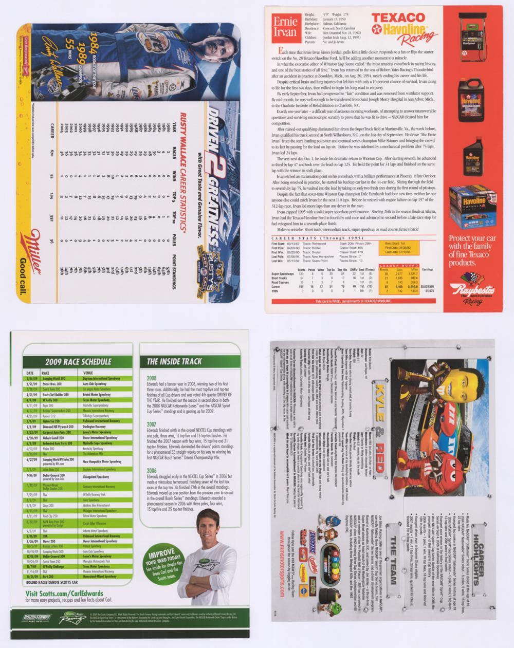 Lot 683: Nascar Drivers Signed Photos (4) Beckett COA's