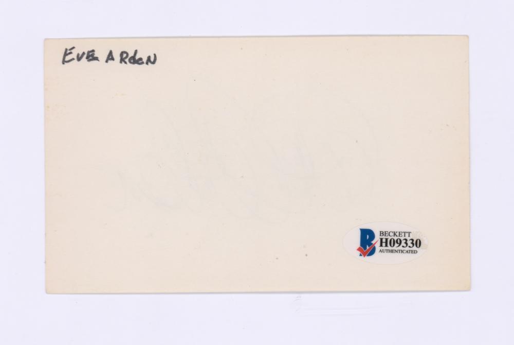 Lot 703: Eve Arden Signed Index Card Beckett COA