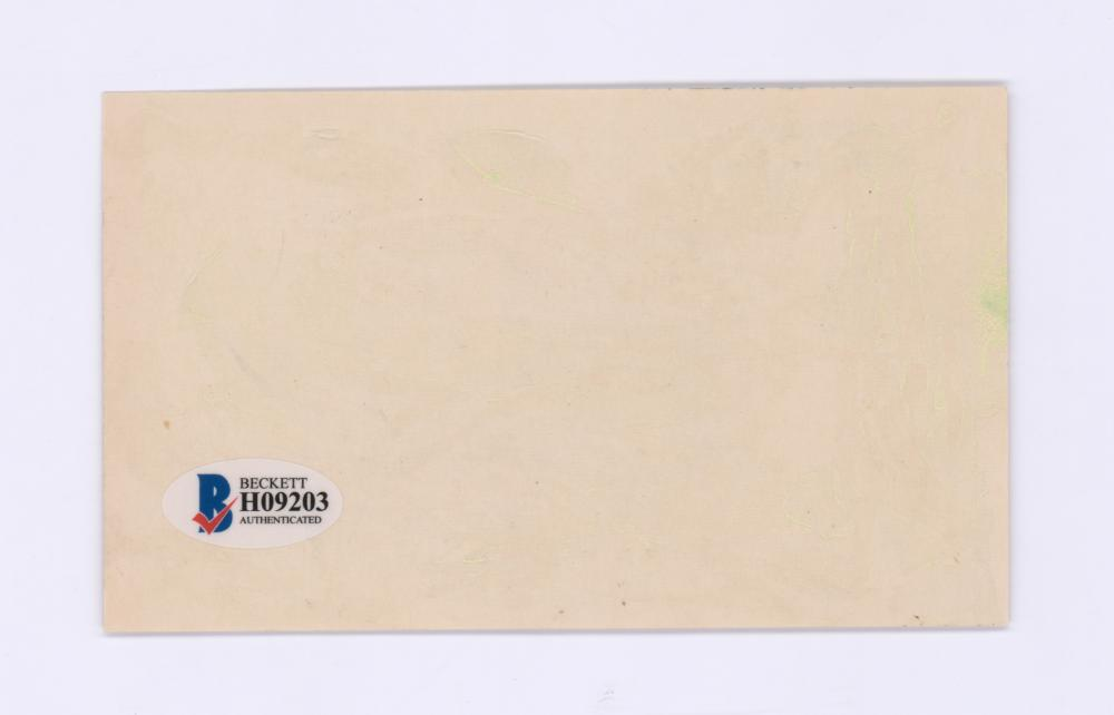 Lot 698: John L. Lewis Signed Index Card Beckett COA